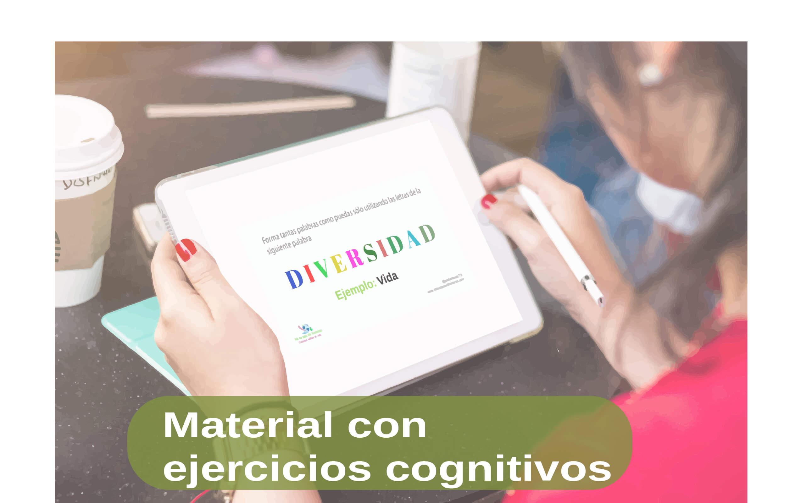 material con ejercicios cognitivos