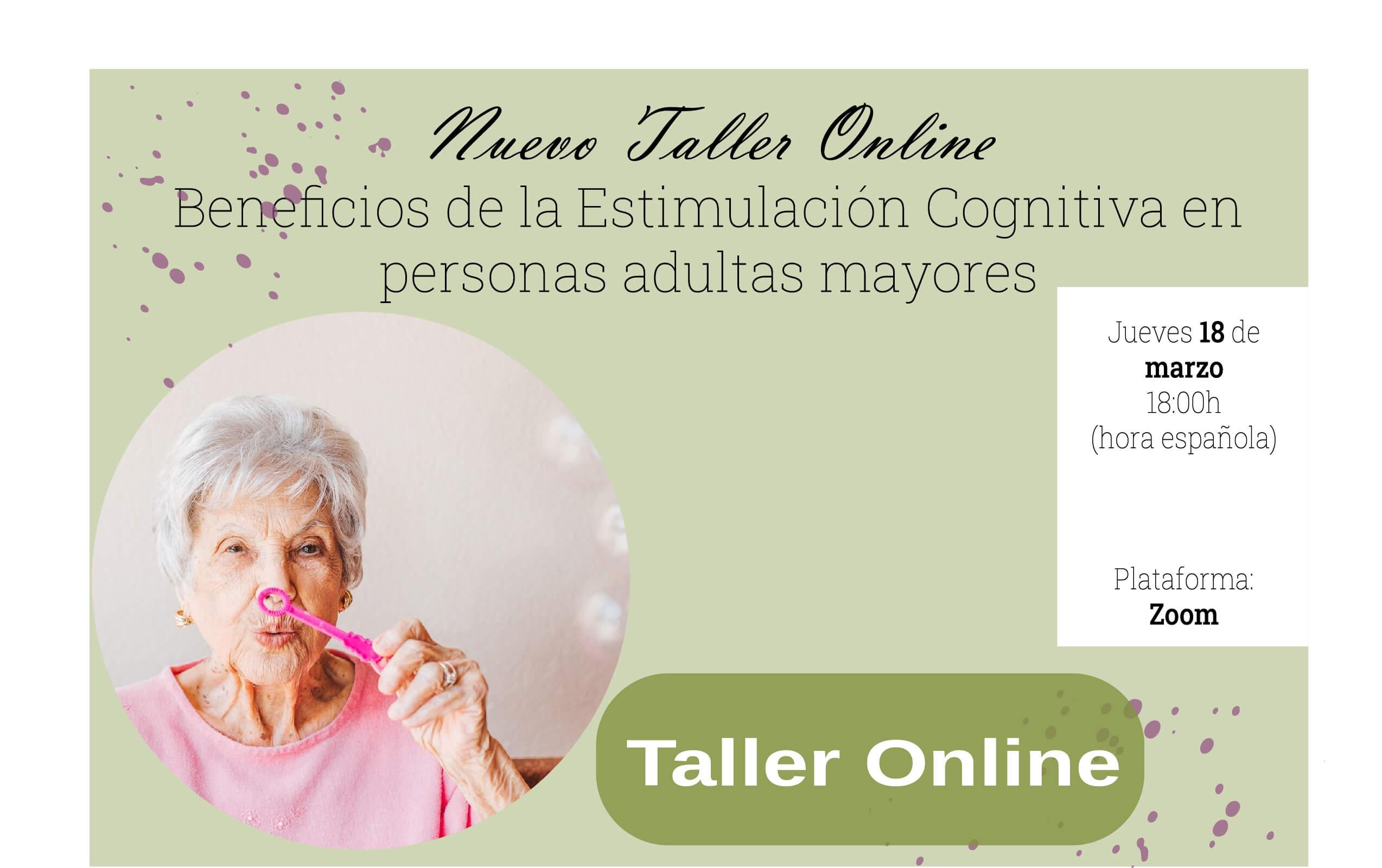 Taller online beneficios de la estimulacion cognitiva
